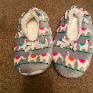Sherpa llama slippers